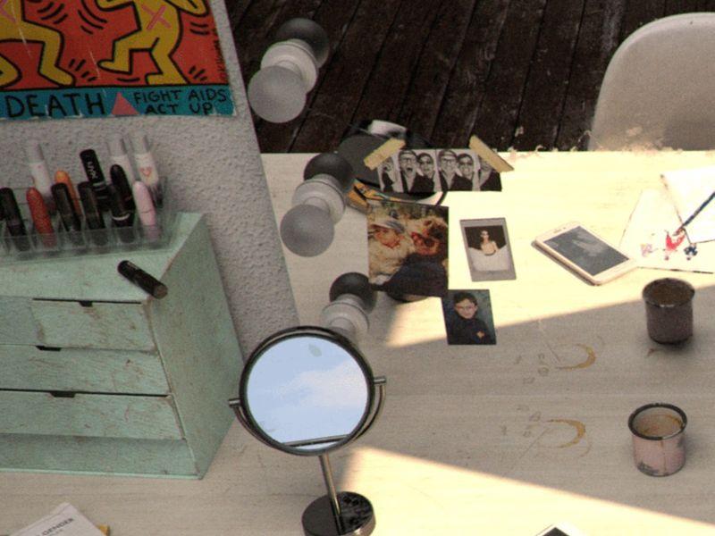 Sasha Velour's dressing room