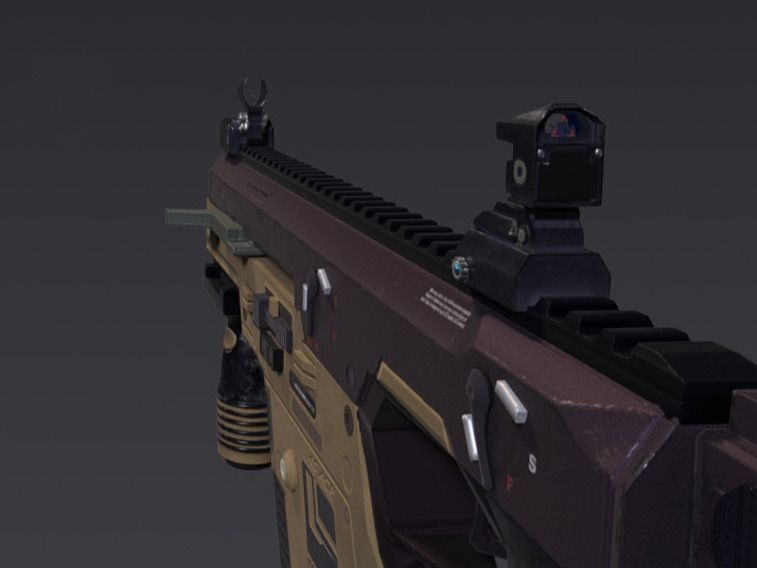 Vector SMG - 3D game Model