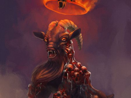 Creepy Hell Goat