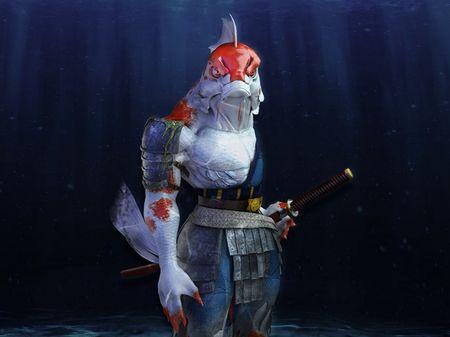 Jinyu (Human koi carp creature) - 3D Model