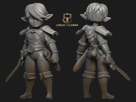 "Carrot ""The Little Warrior"" Figure Version"