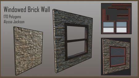 Windowed Brick Wall