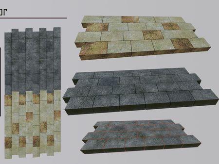 Tiled Stone Floor