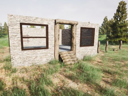Environment Build #1 - Stone Cabin