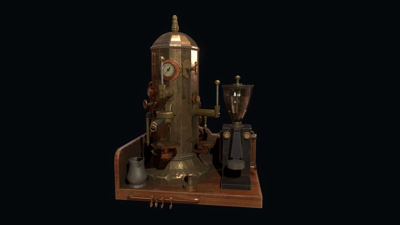 Steampunk Espresso Machine