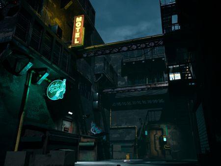 Cyberpunk Sci-Fi Alley