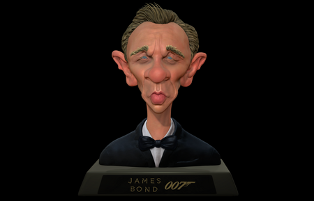 Caricature of Daniel Craig (007)