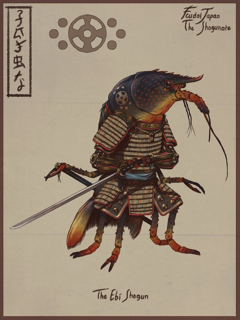 Samurai Lobster - Artstation Challenge Feudal Japan (WIP)