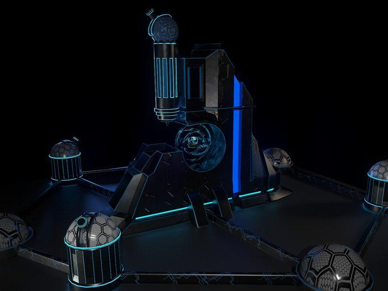 Futuristic Space Station