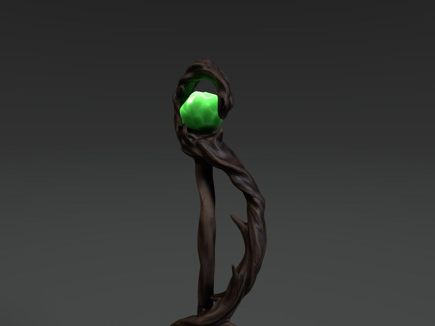 Mystical wood staff