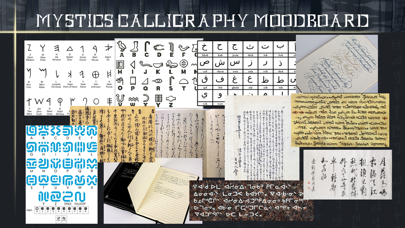 71 Mystics%20 Calligraphy%20moodboard Celinaserrao