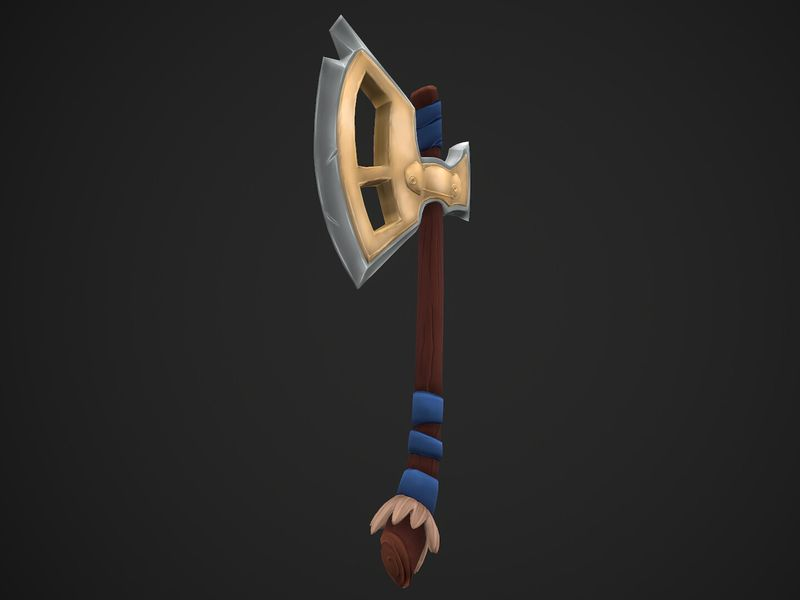 {Training} Hand Painted Axe