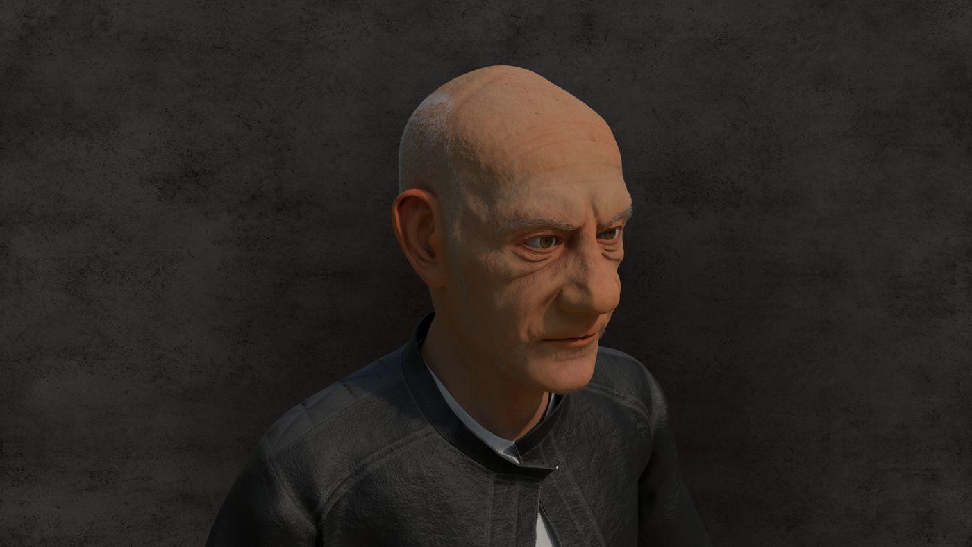 Renrder Old Man 01 Cesarmelo