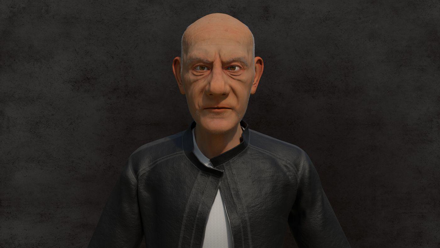 Renrder Old Man 02 Cesarmelo