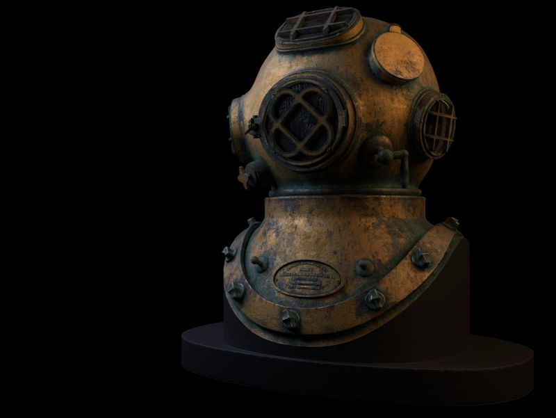 UNDERWATER Old diving helmet