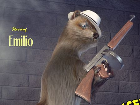 Emilio, the gangster weasel