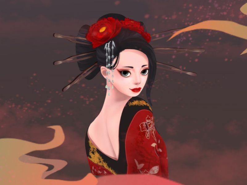 'Yoshiwara' - Handpainted Character