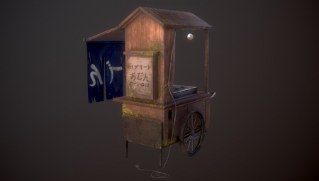 Oden Stand - Lowpoly Game Asset