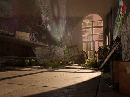Abandoned Asylum Hallway