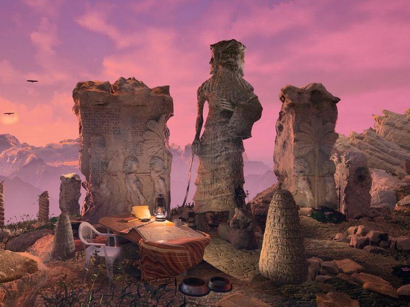 Sumerian Dawn Scene / Cuneiform Material