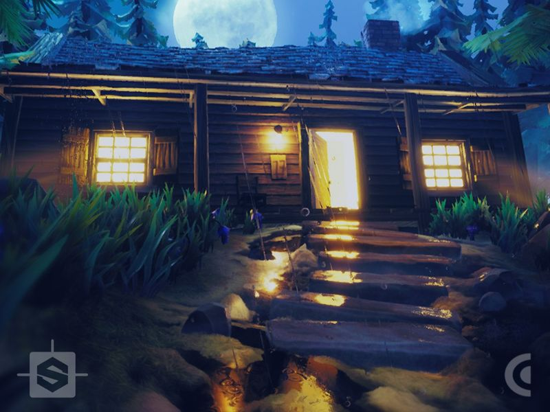 Moon Shiners Cabin Stylized Environment
