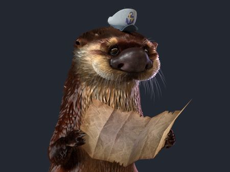 Oscar the Captain Otter