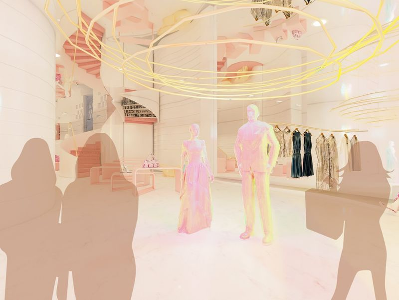 illusion of curvilinear ──  retail design