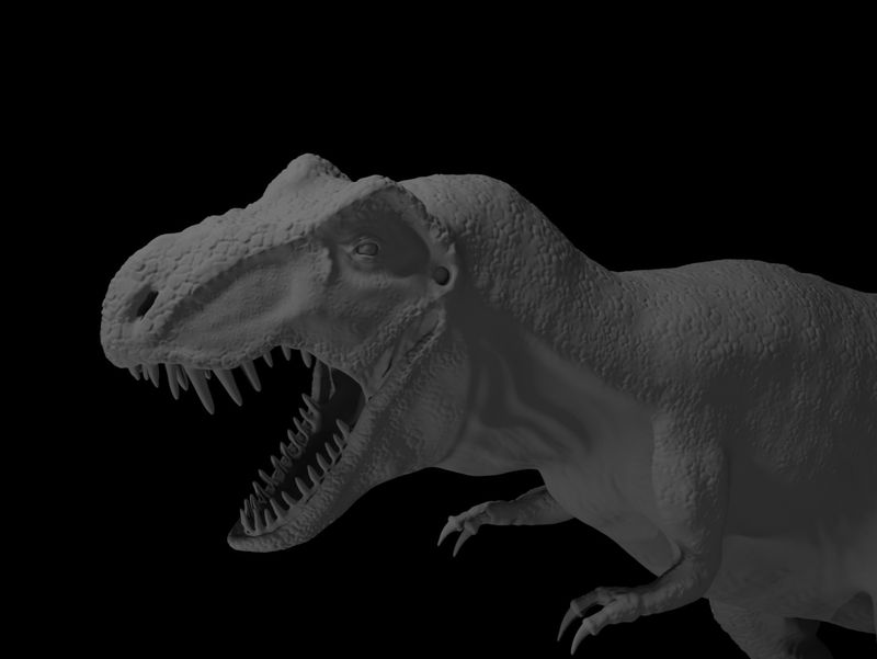 T-Rex Digital Sculpt