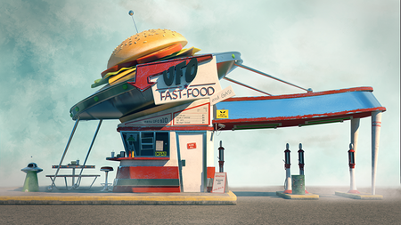 UFO Burger store front
