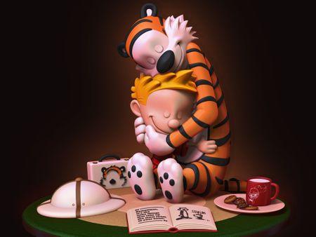 Calvin and Hobbes - The Hug