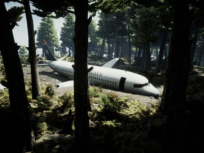 Hard-landed A320 - UE4