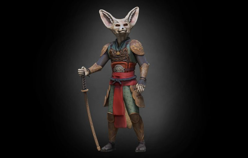 Fennec Fox Warrior