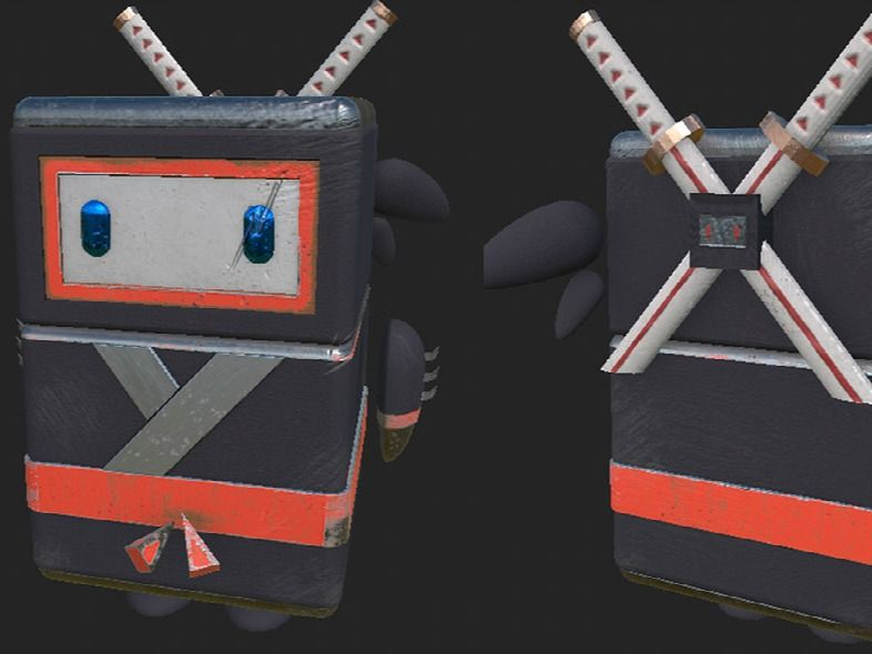 Ninja Robot (First 3D Modelling and Animation)