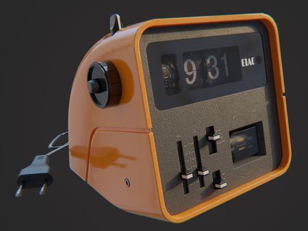 Radio & flip clock