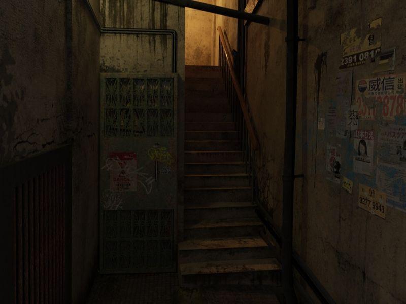Murky Backstreet Corridor