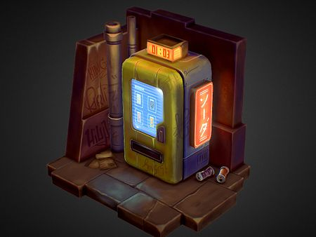 Vending Machine - 3D Fan Art