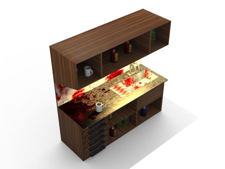 Bloody Cabinet 3D Model