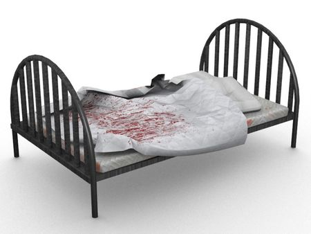 Old Style Hospital Bed 3D Model