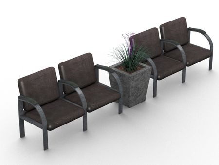 Waiting Room Chairs 3D Model