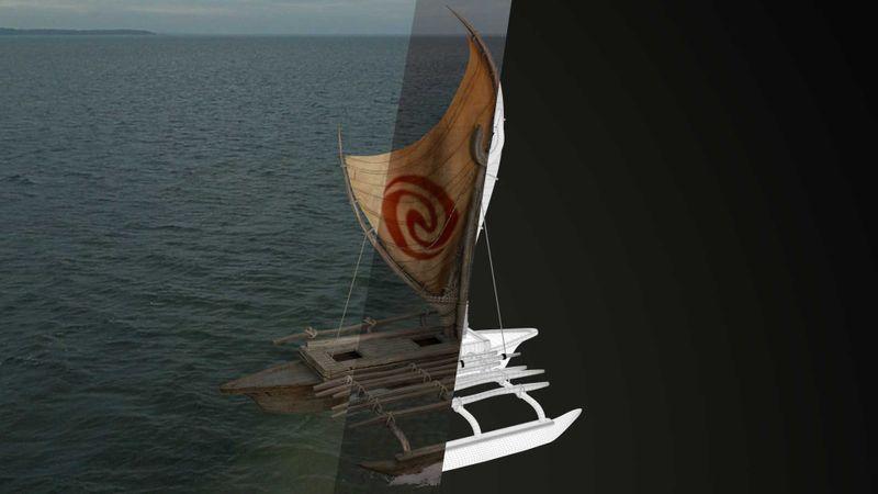Moana's boat