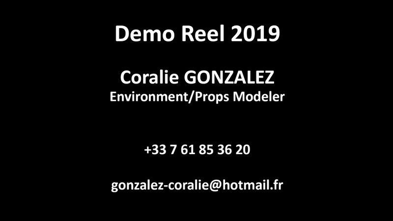 Environment/Props Modeler - Demo Reel 2019 - Coralie GONZALEZ