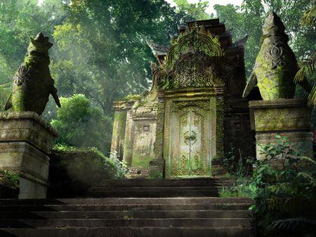 Penguin Temple Gate | Environment Concept Art