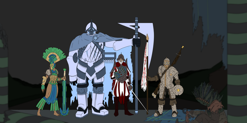 Character Design: 4 Man Band - Hernan Cortez