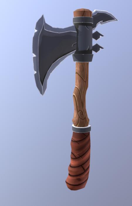 Handpainted axe