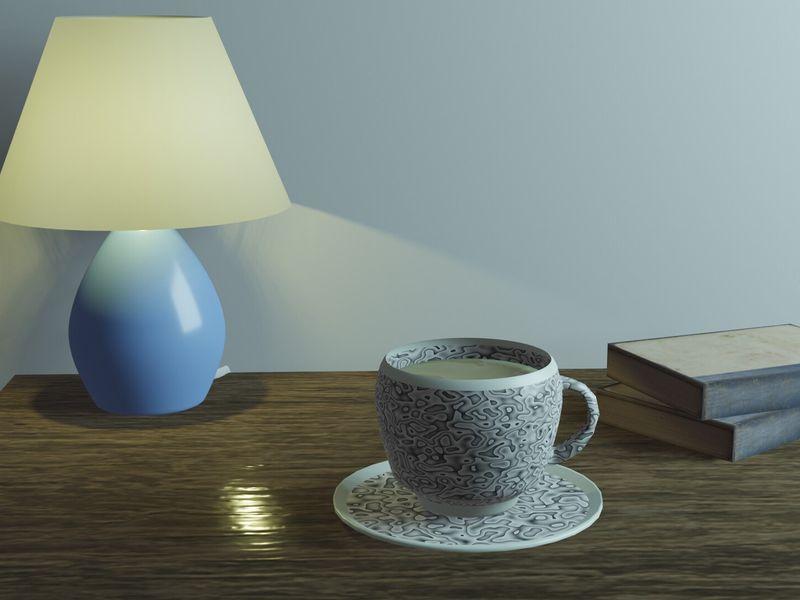 Tea Set Scene