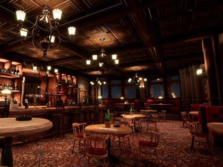 Vintage Pub Scene