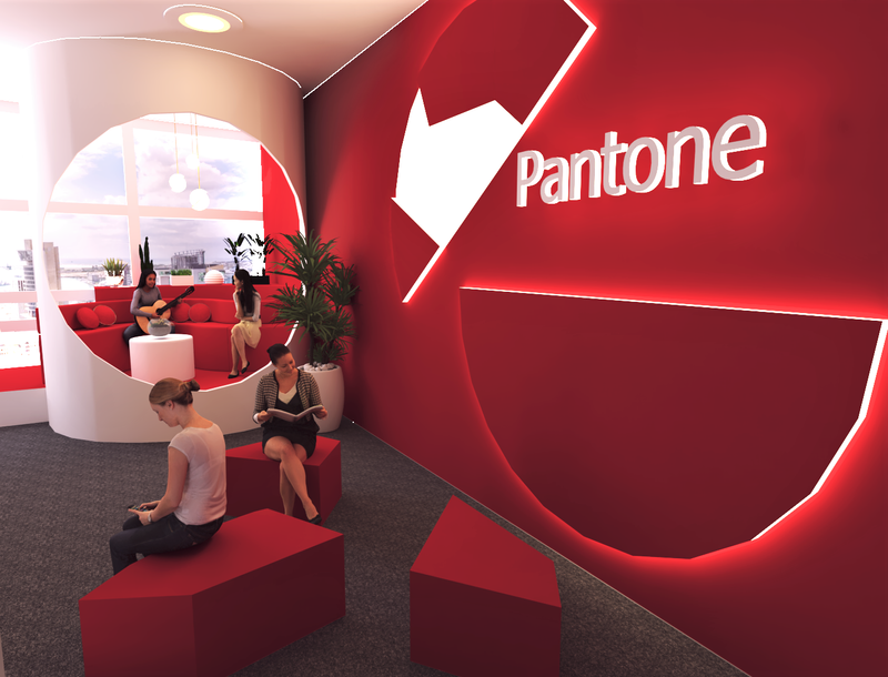 Pantone Office's Collaborative Space Design