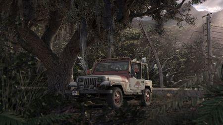 Jurassic Park 3D Scene