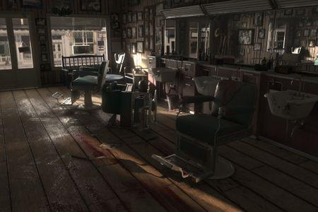 Barber Shop Crime Scene