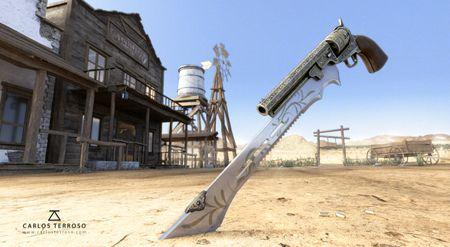 Western 3D Scene